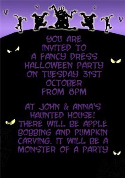 Photo Halloween Invitation Card