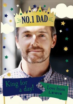 Greeting Cards - King For A Day No. 1 Dad Photo Card - Image 1