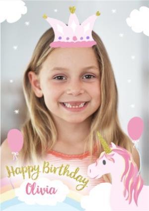 Greeting Cards - Incognito Unicorn Photo Upload Birthday Card - Image 1
