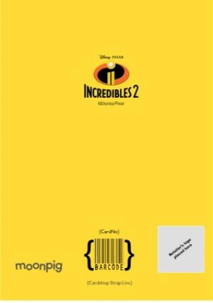 Greeting Cards - Birthday Card - The Incredibles 2 - Disney Pixar - 7 today - photo upload card - Image 4