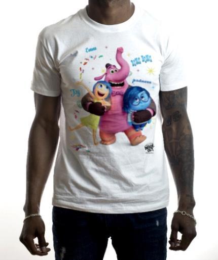 T-Shirts - Inside Out Joy Sadness Bing Bong Personalised T-shirt - Image 2