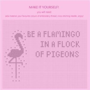 Greeting Cards - Be A Flamingo In A Flock Of Pigeons Personalised Greetings Card - Image 2