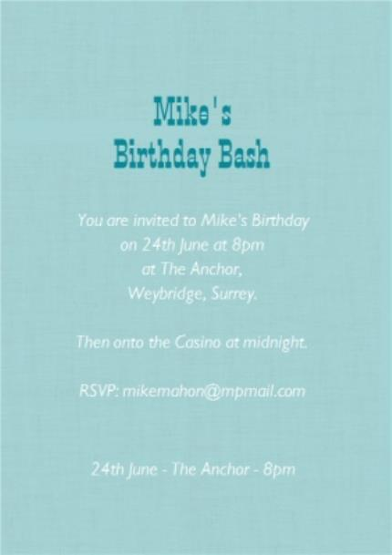 Greeting Cards - Big Beer Personalised Birthday Party Invitation - Image 3