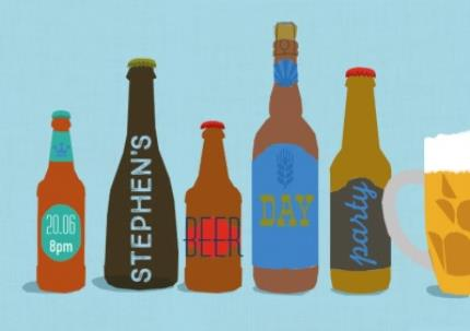 Greeting Cards - All The Beers Party Invitation - Image 1