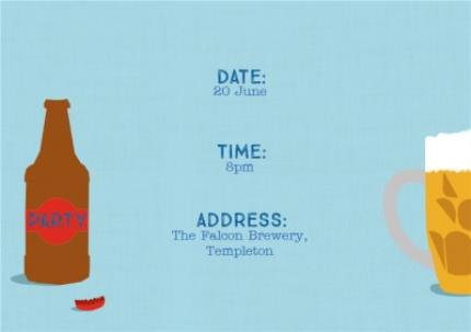 Greeting Cards - All The Beers Party Invitation - Image 3