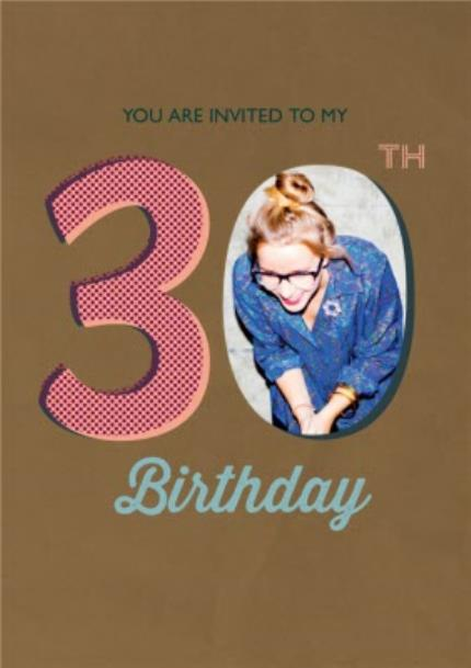 Greeting Cards - 30Th Birthday Party Photo Invitation - Image 1