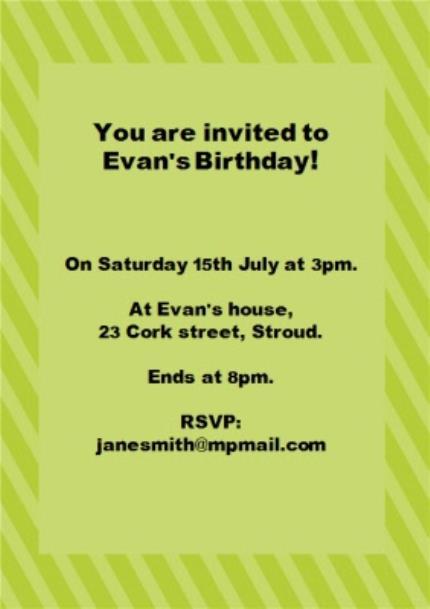 Greeting Cards - Big Teddy Bear Birthday Party Invitation - Image 3