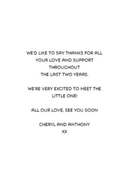 Greeting Cards - Black And White Were Expecting Announcement Card - Image 3