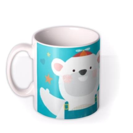 Mugs - I Love My Daddy This Much Polar Bear Personalised Mug - Image 1