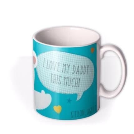 Mugs - I Love My Daddy This Much Polar Bear Personalised Mug - Image 2