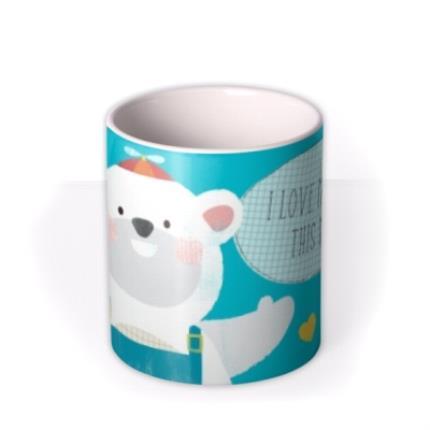 Mugs - I Love My Daddy This Much Polar Bear Personalised Mug - Image 3