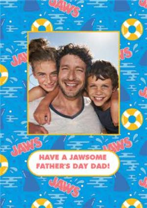 Greeting Cards - Jaws Cartoon Sharks Have A Jaw-Some Father's Day Photo Card - Image 1