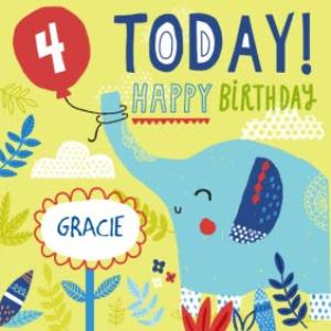 Greeting Cards - Baby Elephant Happy Birthday Kids Card - Image 1