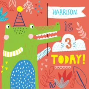 Greeting Cards - Baby Alligator Happy Birthday Kids Card - Image 1