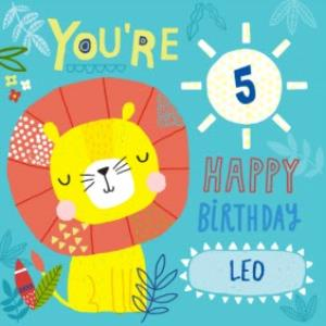 Greeting Cards - Baby Lion Happy Birthday Kids Card - Image 1