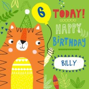 Greeting Cards - Baby Tiger Happy Birthday Kids Card - Image 1