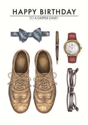 Greeting Cards - Men's Birthday card - men's fashion - brogues - traditional gentleman - Image 1