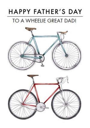 Greeting Cards - Bike Illustration To A Wheelie Great Dad Happy Father's Day Card - Image 1