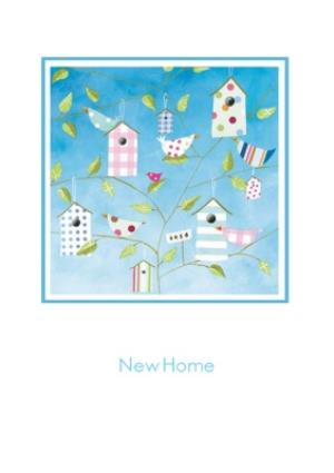 Greeting Cards - Bird Houses Personalised New Home Card - Image 1