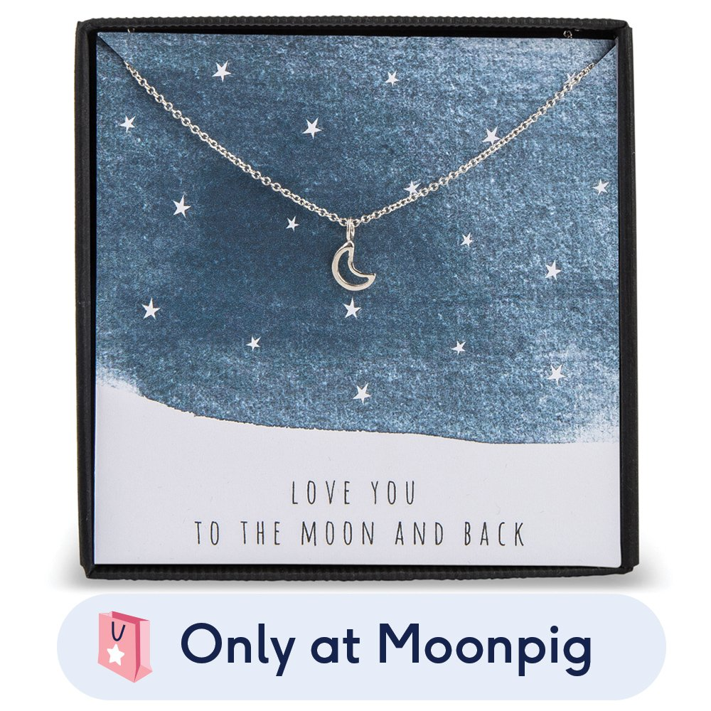 Jewellery & Accessories - Love You To The Moon & Back Silver Necklace - Image 1