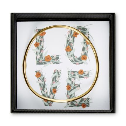 Jewellery & Accessories - Posh Totty Designs Infinity Contour Gold Bangle - Image 1