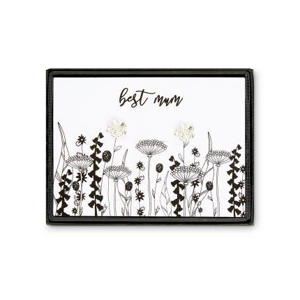 Jewellery & Accessories - Posh Totty Designs Best Mum Flower Earrings - Image 1