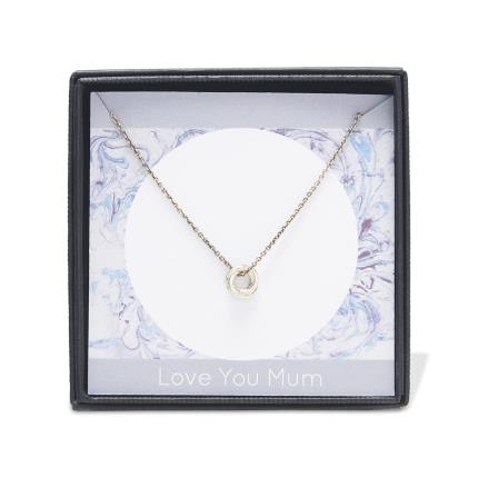 Jewellery & Accessories - Love you Mum Russian Circle Charm Necklace - Image 4
