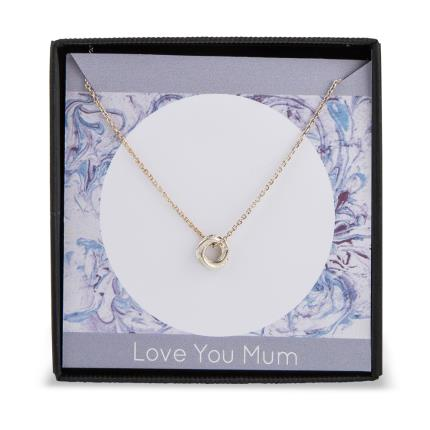 Jewellery & Accessories - Love you Mum Russian Circle Charm Necklace - Image 5