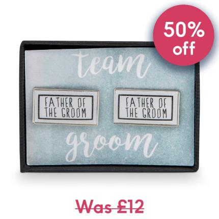 Jewellery & Accessories - Team Groom Father of the Groom Rectangle Cufflinks - Image 1