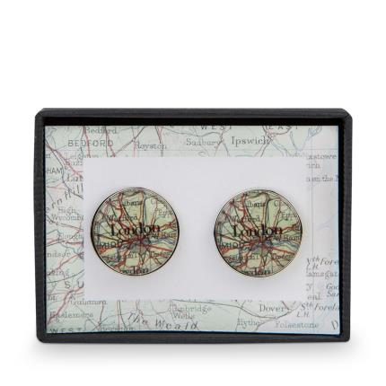 Jewellery & Accessories - Map Cufflinks - WAS £20 NOW £12 - Image 2