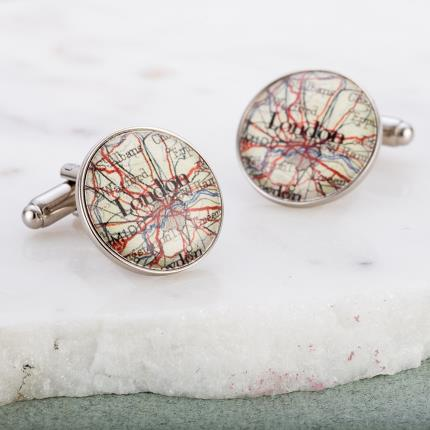 Jewellery & Accessories - Map Cufflinks - WAS £20 NOW £12 - Image 3