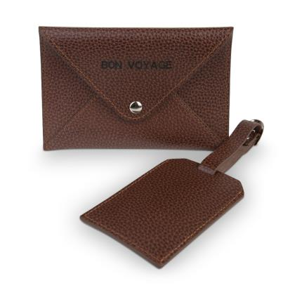 Jewellery & Accessories - Bonvoyage Leather Passport Cover and Luggage Tag Set - Image 2