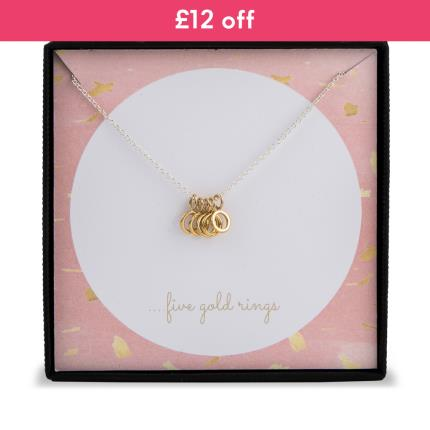 Jewellery & Accessories - Five Gold Rings Necklace WAS £35 NOW £23 - Image 1