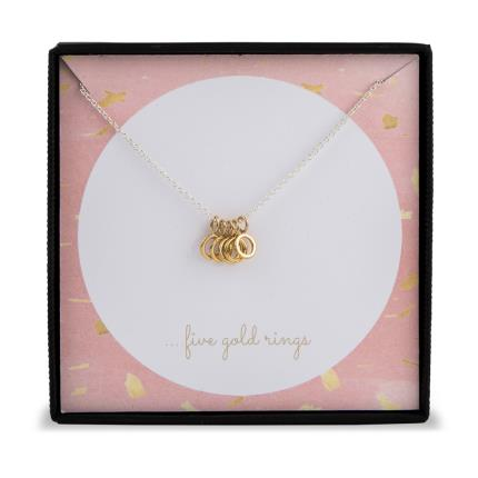 Jewellery & Accessories - Five Gold Rings Necklace WAS £35 NOW £23 - Image 2