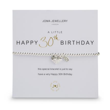 Jewellery & Accessories - A Little Happy 30th Birthday Bracelet - Image 1