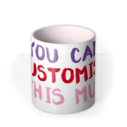 Mugs - Bright Paint Personalised Mug - Image 3