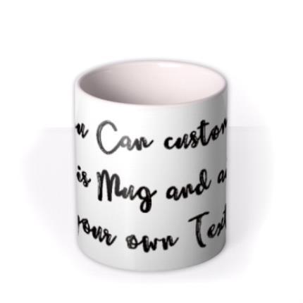Mugs - Typewriter Personalised Mug - Image 3