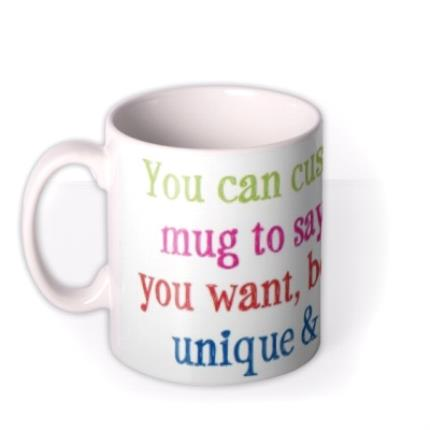Mugs - Multicoloured Text Personalised Mug - Image 1