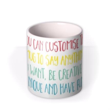 Mugs - Multicoloured Text Personalised Mug - Image 3