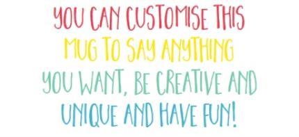 Mugs - Multicoloured Text Personalised Mug - Image 4