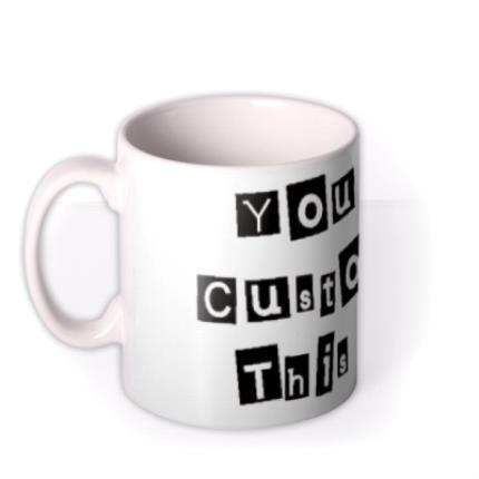 Mugs - Cutout Text Personalised Mug - Image 1