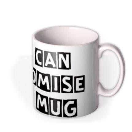 Mugs - Cutout Text Personalised Mug - Image 2
