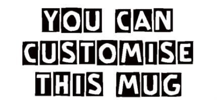 Mugs - Cutout Text Personalised Mug - Image 4