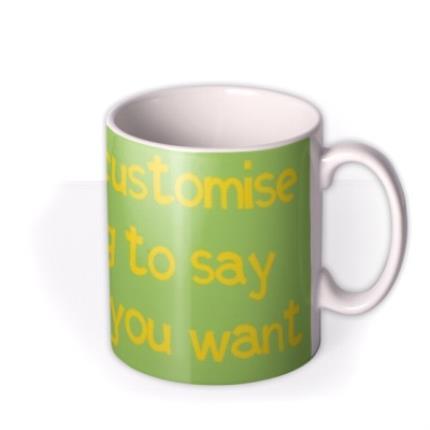 Mugs - Green and Yellow Personalised Mug - Image 2
