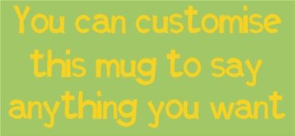 Mugs - Green and Yellow Personalised Mug - Image 4