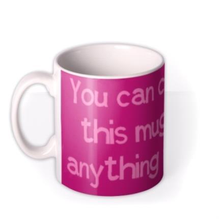Mugs - Pink and Purple Personalised Mug - Image 1