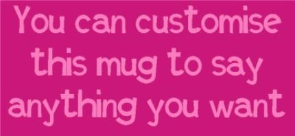 Mugs - Pink and Purple Personalised Mug - Image 4