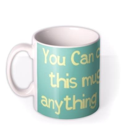 Mugs - Sky Blue and White Personalised Mug - Image 1