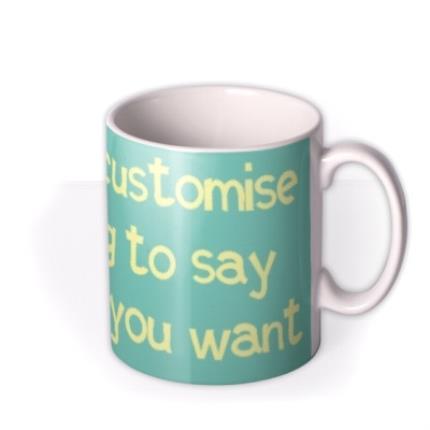 Mugs - Sky Blue and White Personalised Mug - Image 2
