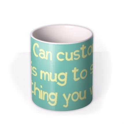 Mugs - Sky Blue and White Personalised Mug - Image 3